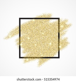 Gold blur glitter background in frame. Abstract gold background for text, type, quote, banner, selling, text, flyer, poster, web, header shopping for sale sign discount Raster version