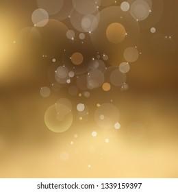 Gold bokeh light background