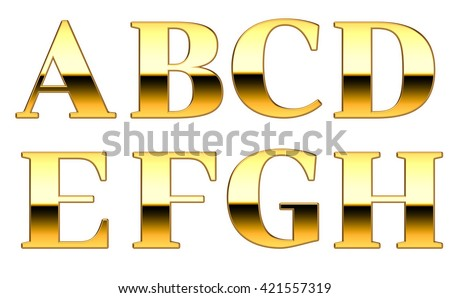gold bold serif font ah stock illustration 421557319 shutterstock