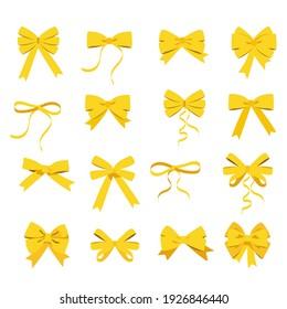 Gold bow set raster yellow