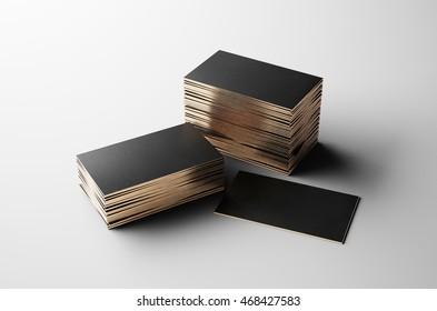Gold business card. 3D illustration
