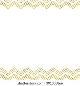 Gold Chevron Background Border