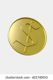 Gold Coin (3D Illustration)