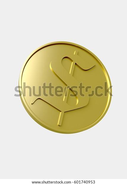Gold Coin (3D Illustration)