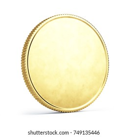 gold coin isolated on white - 3d illustration