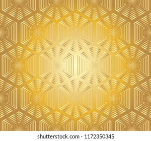 Gold and colored texture. Floral ornament. Retro  elegant  flourishes ornamental frame design and pattern background.and golden  Abstract geometric pattern.