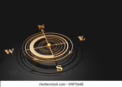 Gold Compass render