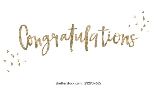 Gold Congratulations Calligraphy Background Graduation Card