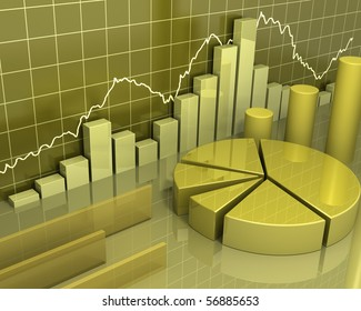 Gold Data Charts [Business Concept]
