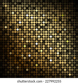 Gold disco lights - abstract background