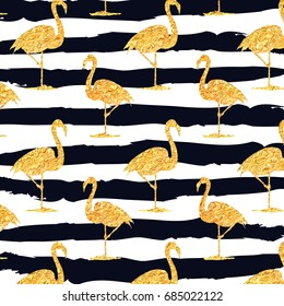 gold flamingo pattern