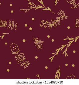 Gold flower background with traditional Czech folk art ornament for Christmas invitation, postcard xmas. Flowers luxury background, floral gold creatives, printable golden floral background.