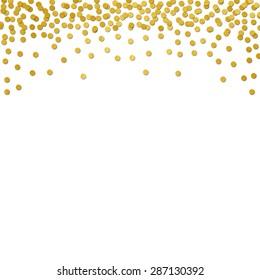 Gold foil confetti border