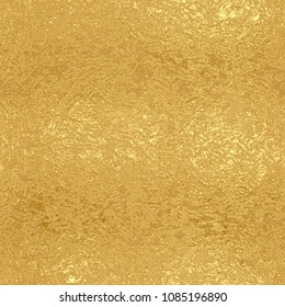 Gold foil seamless pattern, golden shiny texture
