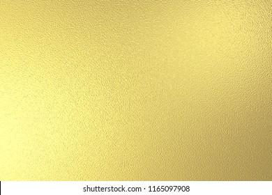 Gold Foil Texture 3D Illustration