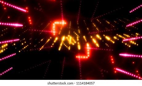 gold glitter lights background, beautiful rays of light. illustration digital.