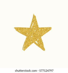 Gold glitter star. Raster version