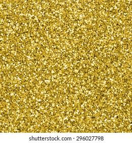 Gold glitter texture. Golden seamless glittery background
