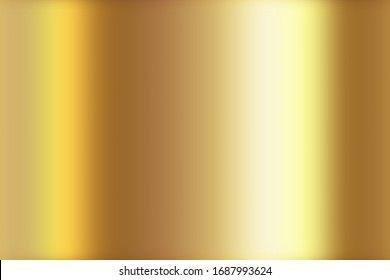 Gold gradient abstract background with soft glowing backdrop texture illustration. Metallic gradient sheet metal effect. Gold foil texture golden background.