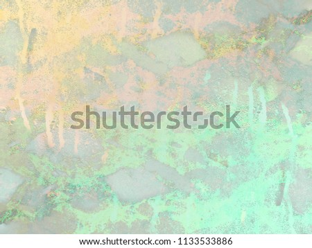 Gold and green mint marble background. Shiny, glitter and glossy effect for an elegant and colorful wallpaper. - Illustration
