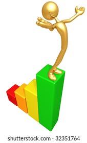 Gold Guy Bar Graph Success