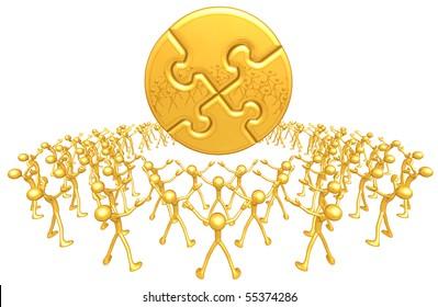 Gold Guy Community Golden Puzzle