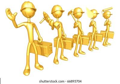 Gold Guy Construction Crew
