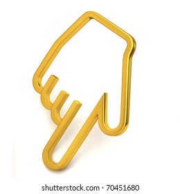 Gold hand cursor
