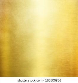 gold metal background light brushed steel plate
