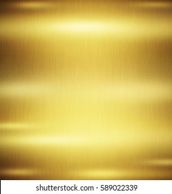 Gold metal background with polished  metal texture