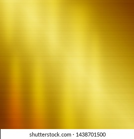 Gold metal background with yellow stainless texture background