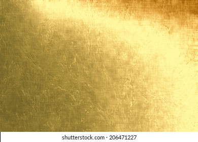 Gold metallic background, linen texture, bright festive background