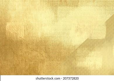 Gold metallic background, linen texture, bright festive backdrop