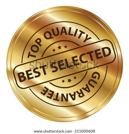 48c30b6b67da Gold Metallic Style Best Selected Top Stock Illustration - Royalty ...