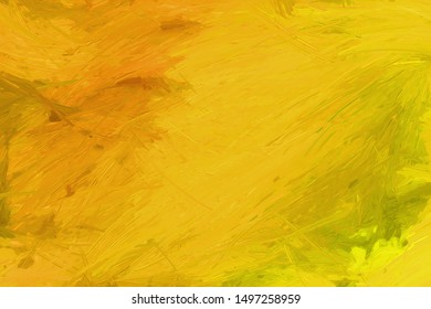 Gold and Orange Paint Background