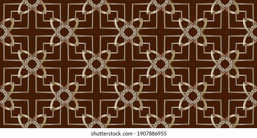 gold pattern on a brown background,Decorative background with geometric patterns. Annotation. Gradient background. Bright color. For posters, banners, leaflets.
