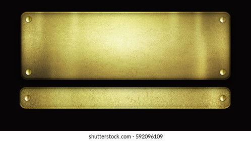 Gold plate texture on black background