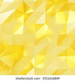 Gold polygon background 3d rendering, 3d illustration. Abstract triangle background. Gold background. Abstract Gold polygon wallpaper. Abstract gold Backdrop. Polygon golden backdrop. Crystal.