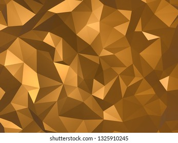 Gold polygonal 3d background wallpaper abstruct 4k
