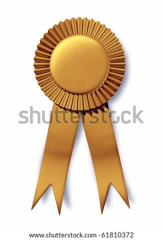 gold ribbon award first place champion stock illustration 61810372