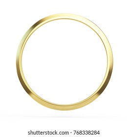 Gold ring isolated on white background - 3d illustration