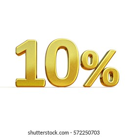 Gold Sale 10%, Gold Percent Off Discount Sign, Sale Banner Template, Special Offer 10% Off Discount Tag, Ten Percentages Up Sticker, Gold Sale Symbol, Gold Sticker, Banner, Advertising, Luxury Sale