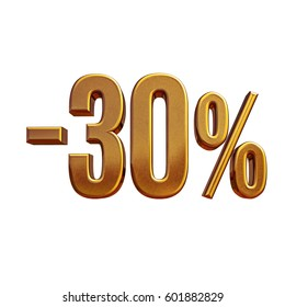 Gold Sale -30%, Gold Percent Off Discount Sign, Sale Banner Template, Special Offer -30% Off Discount Tag, Minus Thirty Percent Sticker, Gold Sale Symbol, Gold Sticker, Advertising, Luxury Sale