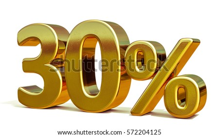 Gold Sale 30%, Gold Percent Off Discount Sign, Sale Banner Template, Special