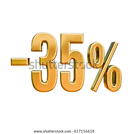 Gold Sale  35%, Gold Percent Off Discount Sign, Sale Banner Template,