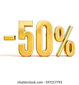 Gold Sale 50%, Gold Percent Off Discount Sign, Sale Banner Template, Special Offer 50% Off Discount Tag, Fifty Percentages Up Sticker, Gold Sale Symbol, Gold Sticker, Banner, Advertising, Luxury Sale