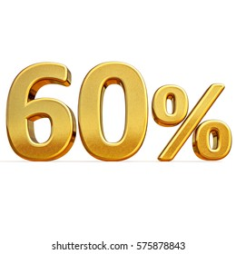Gold Sale 60%, Gold Percent Off Discount Sign, Sale Banner Template, Special Offer 60% Off Discount Tag, Golden Sixty Percentages Sign, Gold Sale Symbol, Gold Sticker, Banner, Advertising, Luxury Sale