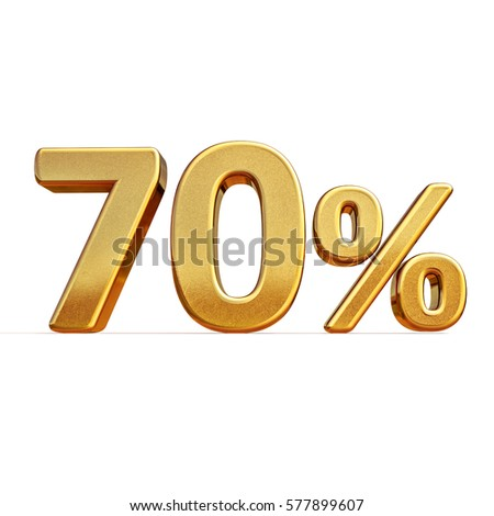 Gold Sale 70%, Gold Percent Off Discount Sign, Sale Banner Template, Special