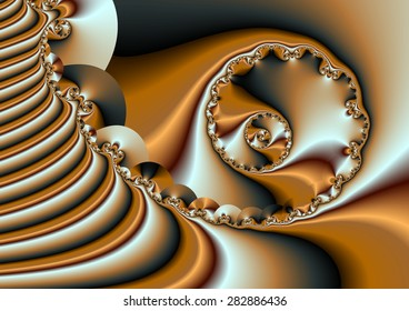 gold Sheet,illustration, spirals twist,  abstract expressionism, abstract surrealism, digital art, fractal,
