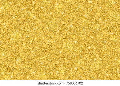 Gold shiny glitter festive background, horizontal texture